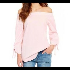 FREE PEOPLE | show some shoulder pink blouse M